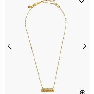 Madewell star bar necklace